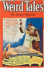Weird Tales cover image for November 1929