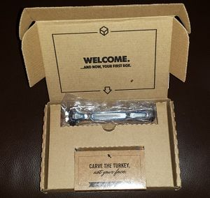 Dollar Shave Club - The initial welcome packet from Dollar Shave Club.