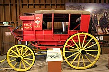 History of Wells Fargo - Wikipedia on fargo road map, wells fargo center stage, oxbow route map, butterfield stage line map, mail route map, 1852 wells fargo route map, wells fargo seating views, fargo nd zip code map, wells fargo seating chart interactive, overland trail route map, butterfield stagecoach route map,