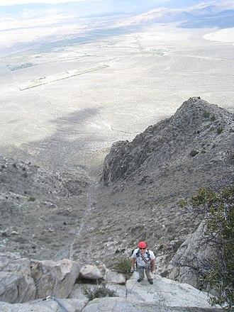 Wheeler Crest - Owens Valley is thousands of feet below Wheeler Crest