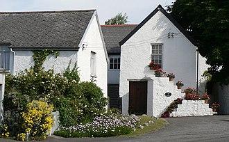 Aberthaw - Whitewashed cottages, East Aberthaw