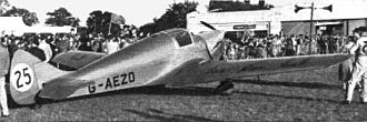 Miles Whitney Straight - M.11A Whitney Straight (G-AEZO), after finishing 2nd in the King's Cup Air Race at Hatfield, 11 September 1937