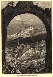 Whymper, Josiah Wood (1813-1903) (after a work by Harry Fenn) - Etna. From the theatre Taormina, 1878.jpg