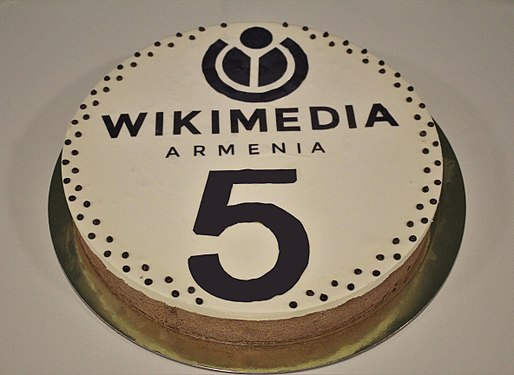 Wikimedia Armenia 5th birthday cake.jpg
