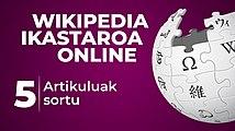 Wikipedia ikastaroa - Artikuluak sortu 01.jpg