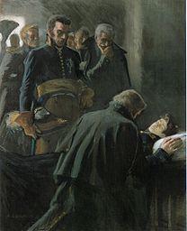 EDELFELT, Albert  Wilhelm von Schwerins död 1893