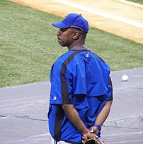 Mets manager Willie Randolph before a Mets/Devil Rays spring training game at Tropicana Field in St. Petersburg, Florida.