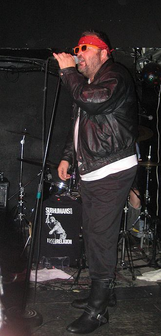Brian Roy Goble - Wimpy singing for the Subhumans, 2010
