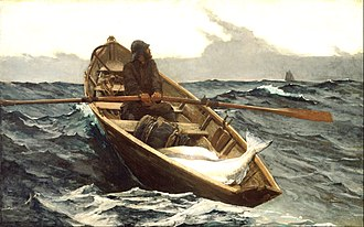 Banks dory - The Fog Warning, painted by Winslow Homer in 1885