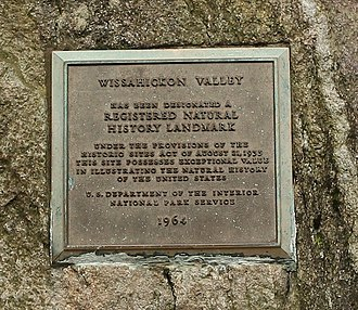 National Natural Landmark - Wissahickon Valley plaque in Philadelphia near Valley Green Inn