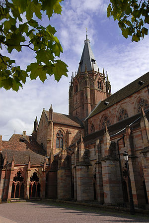 St. Peter and St. Paul's Church, Wissembourg - Image: Wissembourg, Sts. Peter and Paul Church, crossing tower