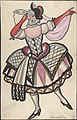 Woman in a harlequin costume holding a mask MET DP804816.jpg
