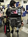 WonderCon 2011 - indie zombie movie playing on a stormtrooper's pack (5581408260).jpg