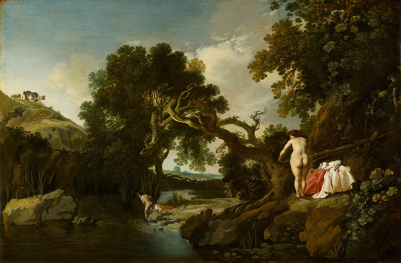 Wooded Pool with Salmacis and Hermaphroditus