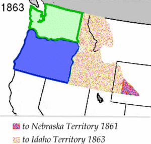 Washington Territory - Image: Wpdms washington territory 1863 legend 3