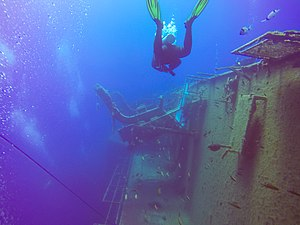 Wreck diving on the wreck of the Zenobia, Cyprus (41852446480).jpg