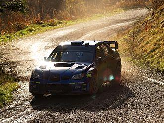 Xavier Pons - Pons driving his Subaru Impreza WRC at the 2007 Wales Rally GB.