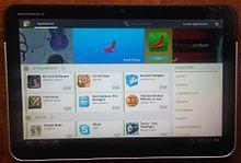 Android Market nel 2011, in esecuzione su un Motorola Xoom