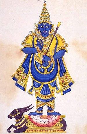 Yama (Hinduism) - Yama holding a danda