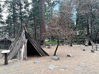 Yosemite Museum - Tents of the Ahwahnechee people.