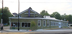 Depot Town - The Ypsilanti Automotive Heritage Museum building houses the last surviving Hudson dealership.