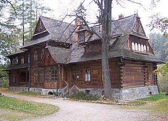"Zakopane Style - An exterior shot of Villa ""Koliba"""