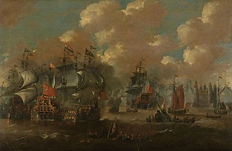 Battle of the Sound - Painting by Peter van de Velde.