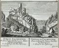 Zentralbibliothek Solothurn - SCHLOSS FALCKENSTEIN In dem Canton Solothurn von Mitter Nacht anzusehen A Landstraß über den Passwang - a0652.tif