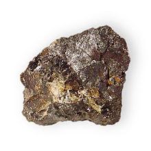 Zinkenite 2 w- sphalerite Lead antimony sulfide Fargo mine Stevens County Washington 1971.jpg