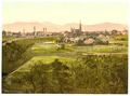 Zittau with mountains, seen from Eckartsberg, Saxony, Germany-LCCN2002720612.tif