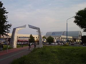 Petržalka - Railway station in Petržalka linking Bratislava with Vienna