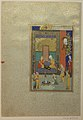 """Bahram Gur in the Yellow Palace on Sunday"", Folio 213 from a Khamsa (Quintet) of Nizami MET sf13-228-7-9.jpg"
