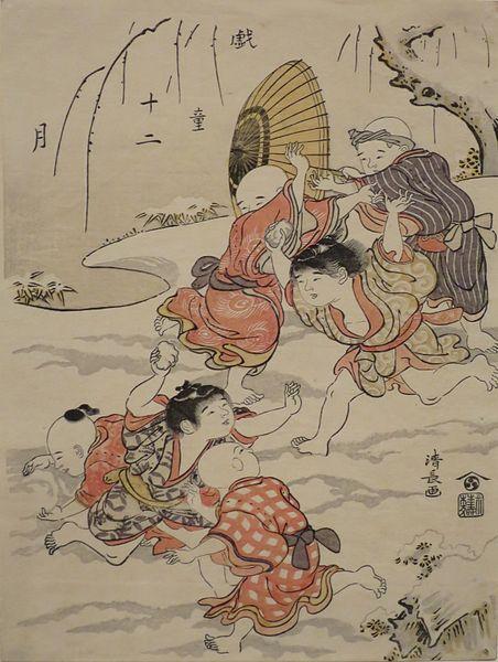 452px-'Snowball_Fight',_by_Torii_Kiyonaga,_1787,_Honolulu_Museum_of_Art,_15966.JPG (452×600)
