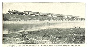New York and New England Railroad - New York and New England Railroad's White Train between New York and Boston, c. 1890