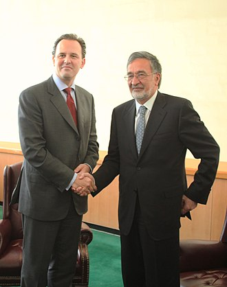 Afghanistan–Greece relations - Greek Foreign Minister Dimitrios Droutsas meeting with Afghan Foreign Minister Zalmai Rassoul in 2010.
