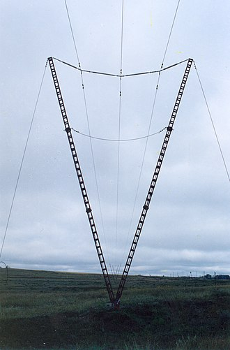Suspension tower - a guyed tower