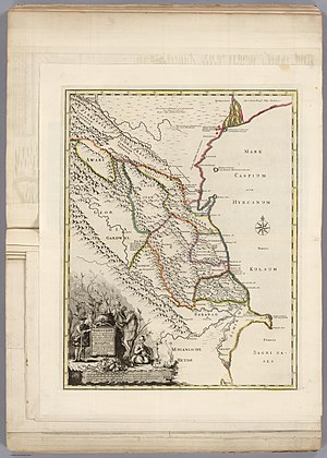 Lezgins - Lezgistan from map of the Caucasus by Johann Gustav Gaerber (1728)