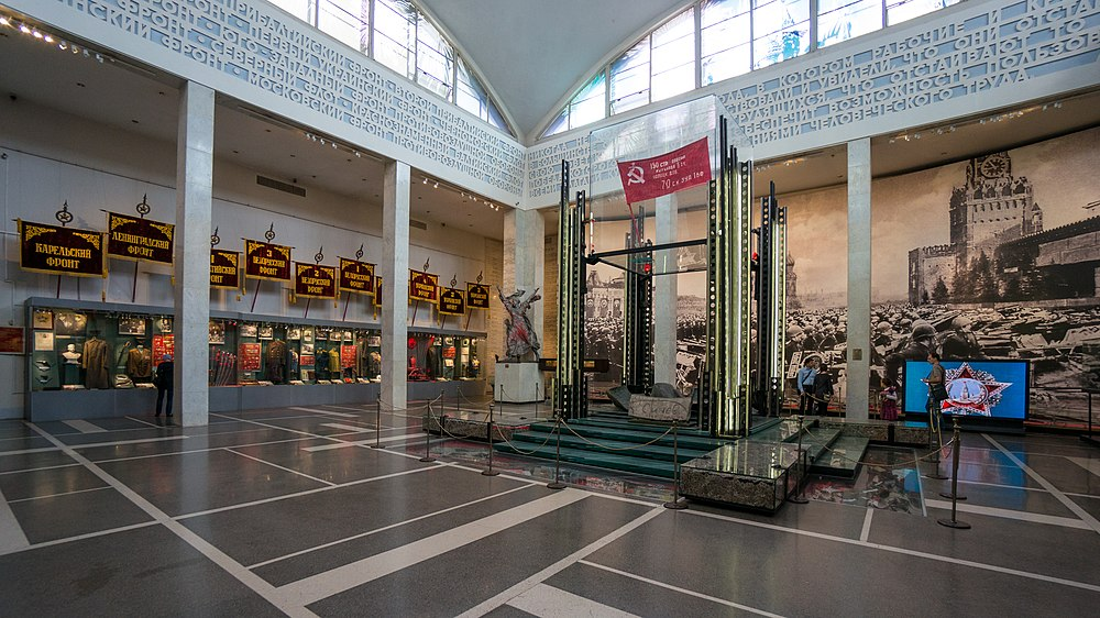 The original Victory Banner is saved in the Central Museum of the Armed Forces, Moscow