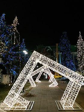 Праздничные рамки к Новому году, площадь Октябрьская, Нижний Новгород.jpg