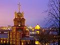 Рождественская церковь, ночной вид на Стрелку.JPG