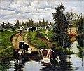 Степанов Алексей Степанович Коровы на водопое. 1908.jpg
