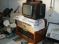 Цветной телевизор Шилялис и ламповый радиоприемник.JPG