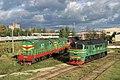 ЧМЭ3-3672 и М62-1247, Латвия, Рига, депо Рига (Trainpix 145771).jpg