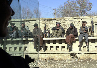 Northern Alliance - Northern Alliance troops under General Dostum's command in Mazar-e Sharif, December 2001
