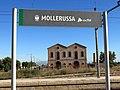 027 Molí d'oli de Cal Calçoner (Mollerussa), des de l'Estació.JPG