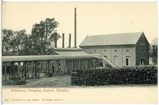 05982-Mildura-1905-Billabong Pumping Station-Brück & Sohn Kunstverlag