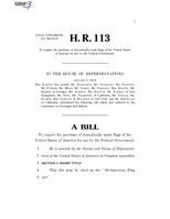116th United States Congress H. R. 0000113 (1st session) - All-American Flag Act A - Introduced in House.pdf