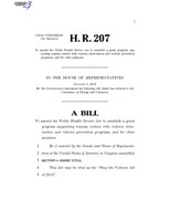 116th United States Congress H. R. 0000207 (1st session) - Stop the Violence Act of 2019.pdf