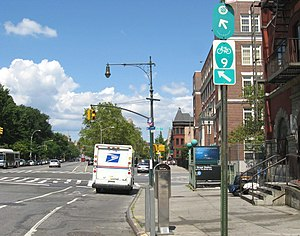 St. Nicholas Avenue - The avenue, which is also NY State Bike Route 9