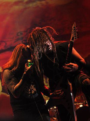 DevilDriver - Mike Spreitzer and Dez Fafara with DevilDriver at Paaspop 2014